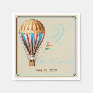 Vintage Heißluft-Ballon-Hochzeits-Servietten Papierserviette