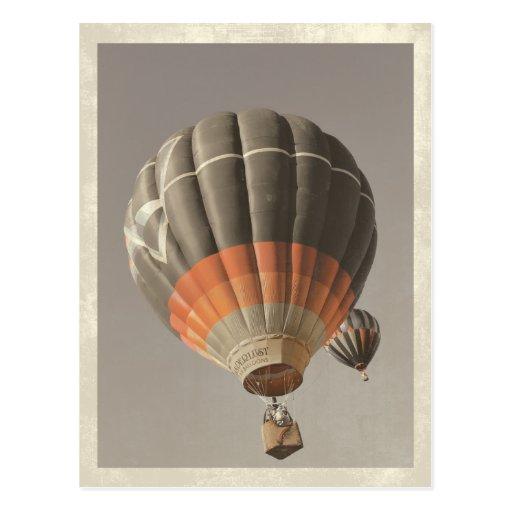 Vintage Heißluft-Ballon-Postkarte