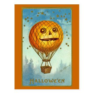 Vintage Heißluft-Ballon-Postkarte Halloweens JOL Postkarte