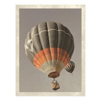 Vintage Heißluft-Ballon-Postkarte Postkarten