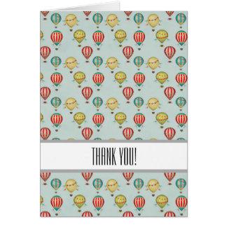 Vintage Heißluft-Ballone danken Ihnen Karte