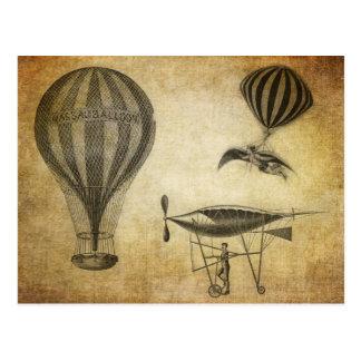 Vintage Heißluft-Ballone und lenkbare
