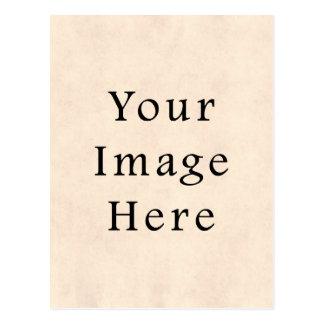 Vintage hellgelbe Sahnepergamentpapier-Schablone Postkarte