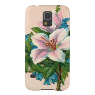 Vintage hellrosa Blume Samsung S5 Cover