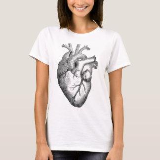 Vintage Herz-Illustration T-Shirt