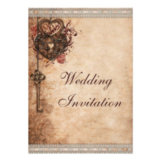 Vintage Herzen Verschluss und Schlüssel-Hochzeit