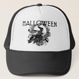 Vintage Hexe Halloween Truckerkappe