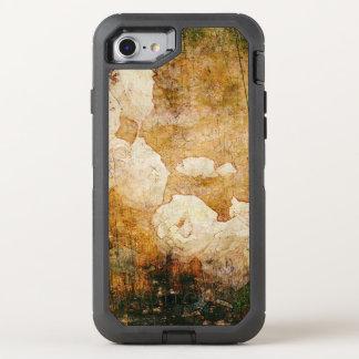 Vintage Hintergrundmit blumenbeschaffenheit Kunst OtterBox Defender iPhone 8/7 Hülle