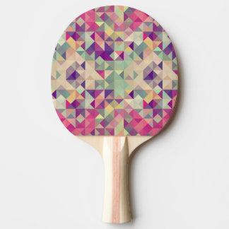 Vintage Hipster-geometrisches Muster Tischtennis Schläger