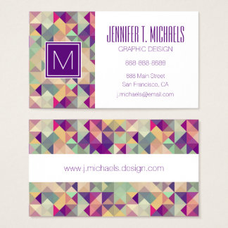 Vintage Hipster-geometrisches Muster Visitenkarte