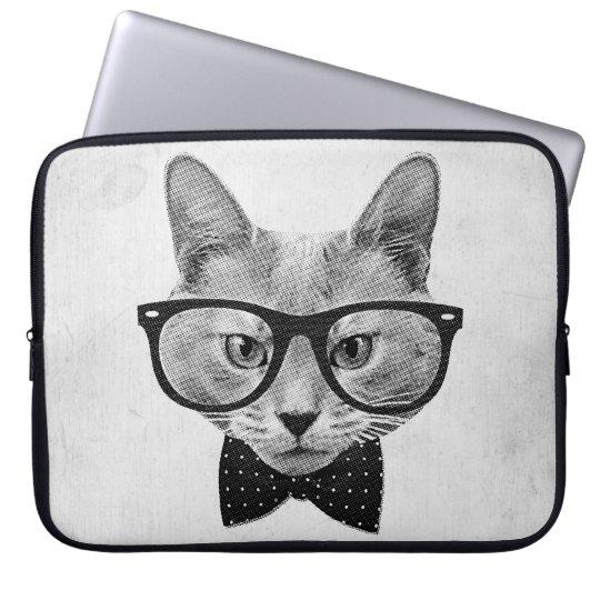 Vintage Hipsterkatze Laptopschutzhülle