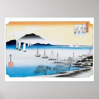 Vintage Hiroshige Boots-Drucke Poster