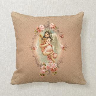 Vintage historische Rosenverzierung des Zierkissen