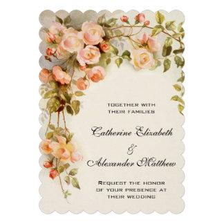 Vintage Hochzeit antike rosa Rosen-Blumen mit