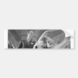 Vintage Hochzeit Auto Sticker
