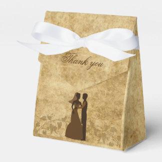 Vintage Hochzeit Braut u. Bräutigam einst Geschenkschachteln
