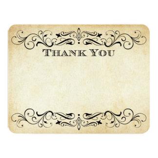 Vintage Hochzeit danken Ihnen kardiert elegantes | 10,8 X 14 Cm Einladungskarte