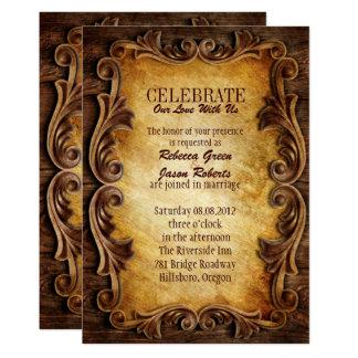 Vintage Hochzeit des hoch entwickelten eleganten 12,7 X 17,8 Cm Einladungskarte