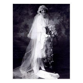 Vintage Hochzeit die Braut Postkarte