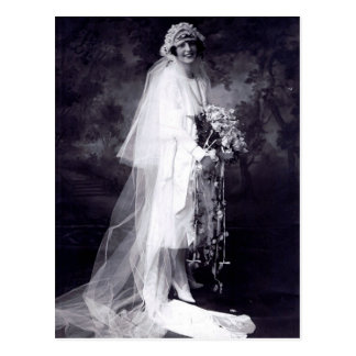 Vintage Hochzeit die Braut Postkarten