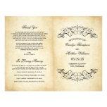 Vintage Hochzeit elegantes programmiert | blühen 21,6 X 27,9 Cm Flyer