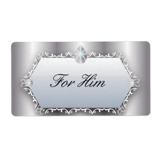 Vintage Hochzeit für ihn Perlen-silbernes Versand Aufkleber