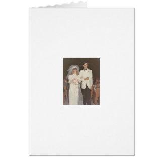 Vintage Hochzeit Karte