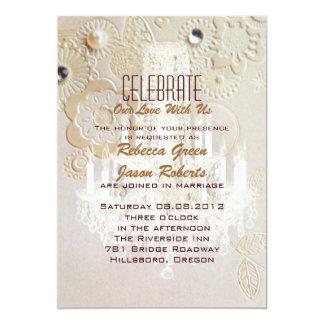Vintage Hochzeit Paris des formalen eleganten 12,7 X 17,8 Cm Einladungskarte