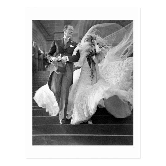 Vintage Hochzeit Postkarte