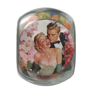 Vintage Hochzeit, Retro Braut und Bonbonniere