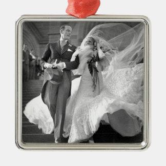 Vintage Hochzeit Silbernes Ornament
