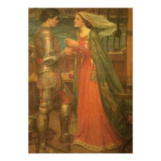 Vintage Hochzeit Tristan und Isolde Waterhouse Personalisierte Ankündigungskarten