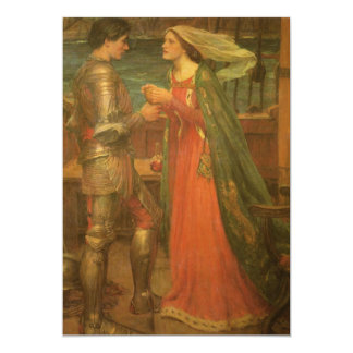 Vintage Hochzeit, Tristan und Isolde, Waterhouse Personalisierte Ankündigungskarten