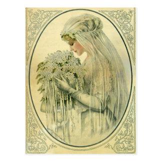 Vintage Hochzeit, viktorianische Postkarte