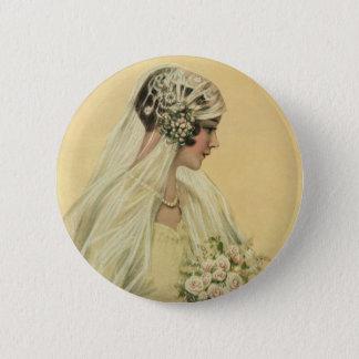 Vintage Hochzeit, viktorianische Runder Button 5,7 Cm