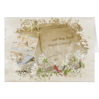 Vintage Hochzeits-Album-Glückwünsche Karte