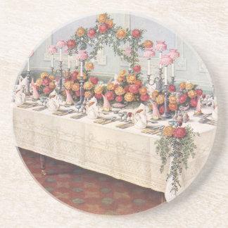 Vintage Hochzeits-Bankett-Tabelle Getränkeuntersetzer