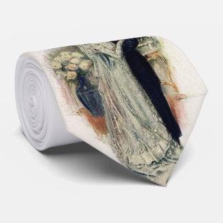 Vintage Hochzeits-Bell-Braut und -bräutigam Individuelle Krawatten