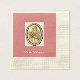 Vintage Hochzeits-Braut, rosa Serviette