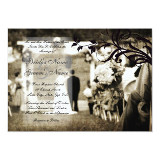 Vintage Hochzeits-Einladung 12,7 X 17,8 Cm Einladungskarte