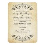 Vintage Hochzeits-Einladungen elegantes | blühen