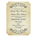 Vintage Hochzeits-Einladungen elegantes | blühen 12,7 X 17,8 Cm Einladungskarte