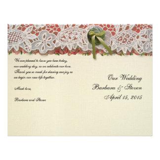 Vintage Hochzeits-Geschenk-rustikale Rosen und 21,6 X 27,9 Cm Flyer
