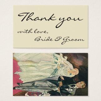 Vintage Hochzeits-Jungvermählten, glückliche Braut Visitenkarte