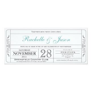 Vintage Hochzeits-Karten-Einladung 10,2 X 23,5 Cm Einladungskarte