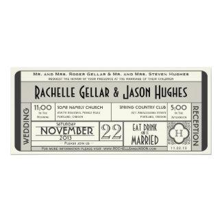 Vintage Hochzeits-Karten-Einladung IV -- Ära 40s