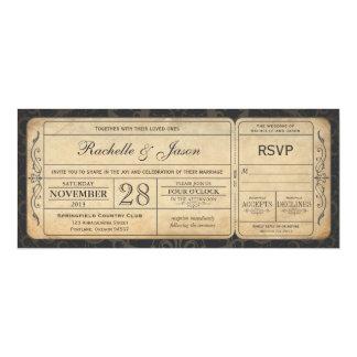 Vintage Hochzeits-Karten-Einladung mit UAWG 3,0