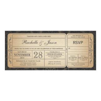 Vintage Hochzeits-Karten-Einladung mit UAWG 3,0 10,2 X 23,5 Cm Einladungskarte