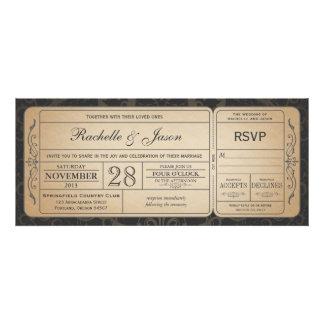 Vintage Hochzeits-Karten-Einladung mit UAWG 3 1