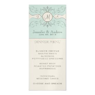 Vintage Hochzeits-Menü-Karte 10,2 X 23,5 Cm Einladungskarte